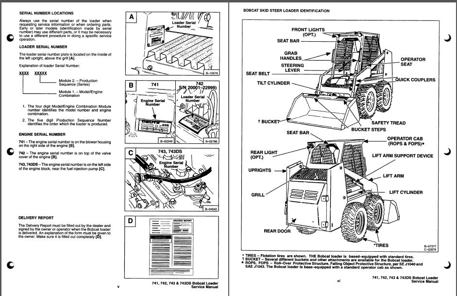 bobcat 741 742 743 743ds skid steer loader service manual pdf rh sellmanuals com bobcat 743 parts manual bobcat 743 repair manual pdf