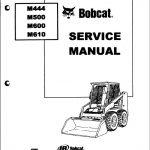 Bobcat M444 M500 M600 M610 Manual