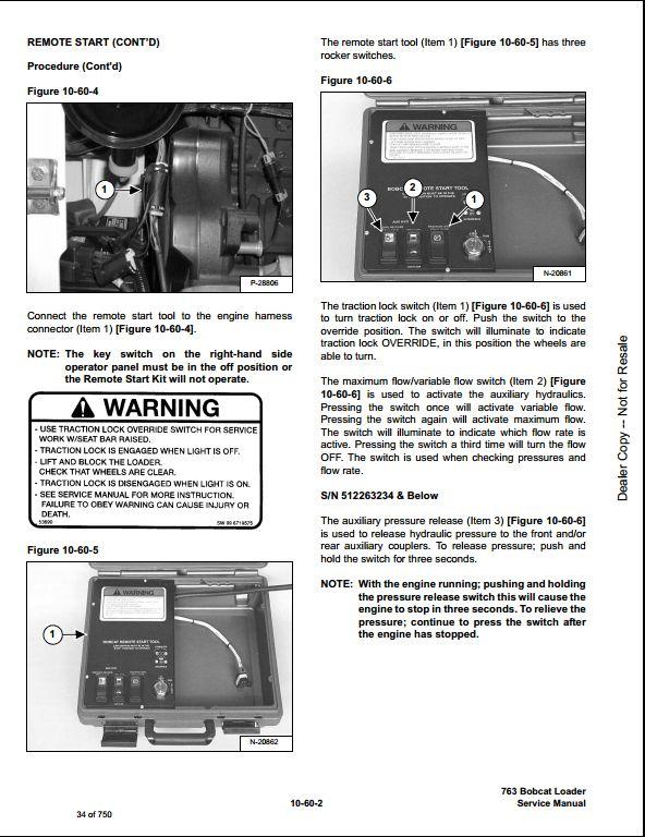 Bobcat 763 High Flow Skid Steer Loader Service Manual Pdf