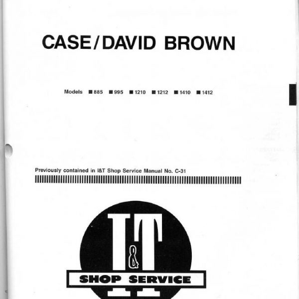 david brown 885 manual free download