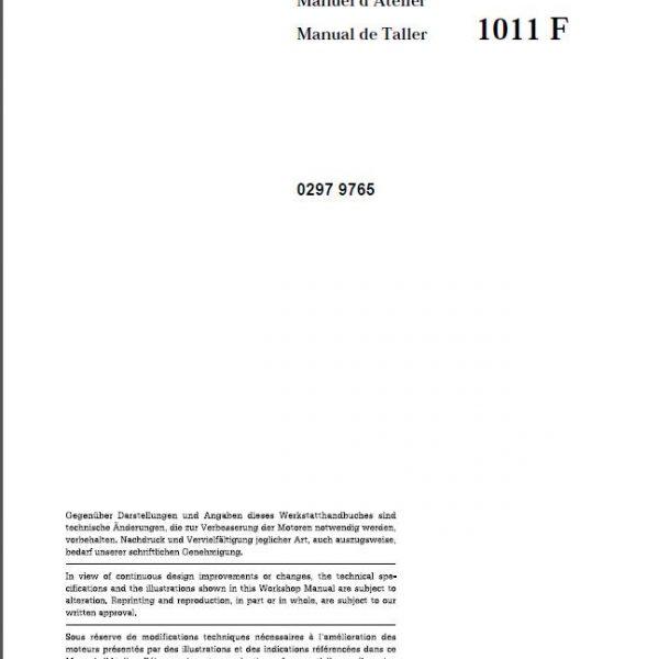 deutz f3l 1011 f repair manual