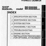 Kobelco SK200SR manual
