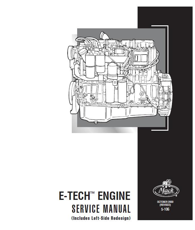 mack e7 e-tech diesel engine service manual  truck,heavy equipment service manuals