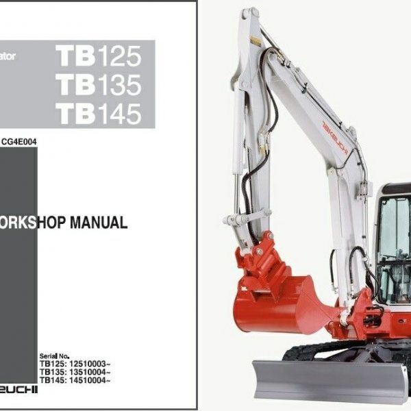 takeuchi tb125 tb135 tb145 compact excavator workshop service manual pdf rh sellmanuals com Takeuchi TB145 Bucket Takeuchi TB135