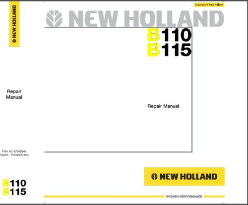 download new holland tractor service repair manuals