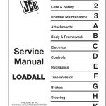 JCB 520-50,520 525-50 525-50S Telescopic Handler Service Repair Manual