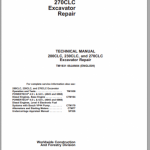 John Deere 200CLC, 230CLC, and 270CLC Excavator Repair Manual