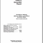 John Deere 200CLC, 230CLC, and 270CLC Excavator Repair Manual