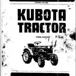 Kubota B6000 Tractor Service Repair Manual