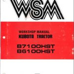 Kubota B6100 B7100 Tractor Workshop Service Manual