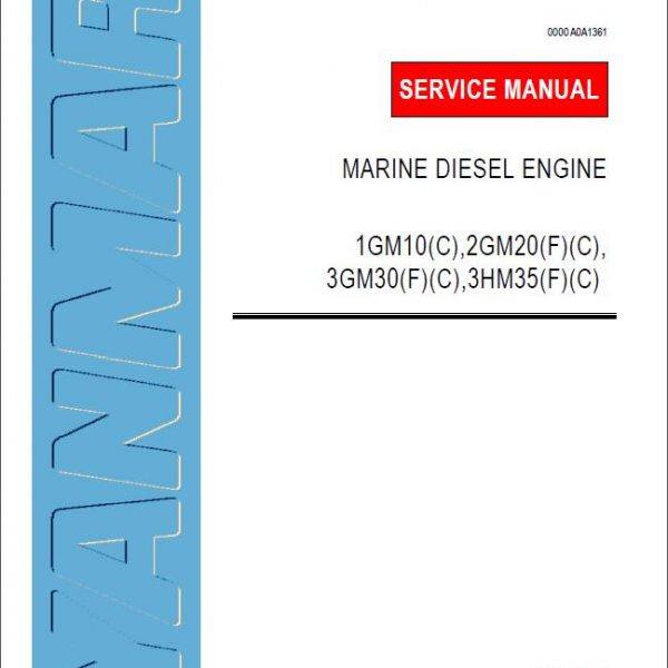 Yanmar Marine Diesel Engine 1GM10 Service Repair Manual