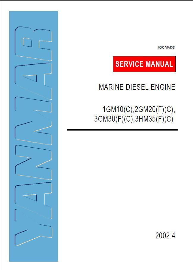 yanmar marine diesel engine 1gm10 service repair manual rh sellmanuals com Yanmar Tractor Manuals Yanmar Marine Diesel Engines