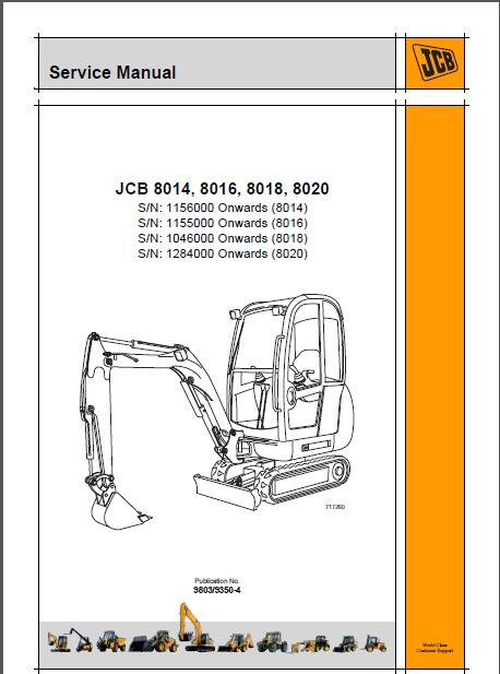 jcb 8014 8016 8018 8020 mini excavator service manual rh sellmanuals com JCB 8018 ZTS jcb 8018 service manual pdf