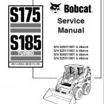 Bobcat S175 S185 Turbo Skid Steer Loader Service Manual