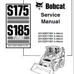 Bobcat S175 S185 Turbo Skid Steer Loader Service Manual