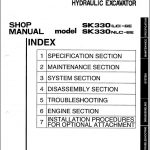 Kobelco SK330-6E-SK330LC Service Shop Manual