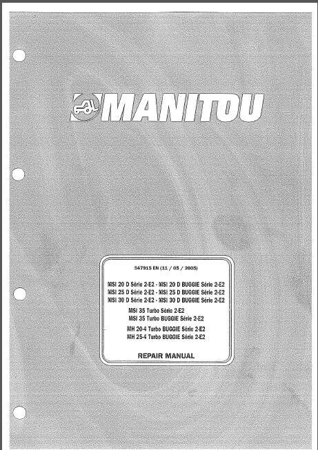 Manitou msi 20 msi 35,mh 20 mh 25 Service Repair Manual
