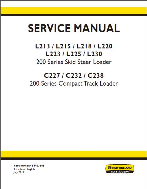 new holland l223 service manual