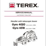 Terex Gyro 4020, Gyro 4518 Telescopic Handler Service Repair Manual
