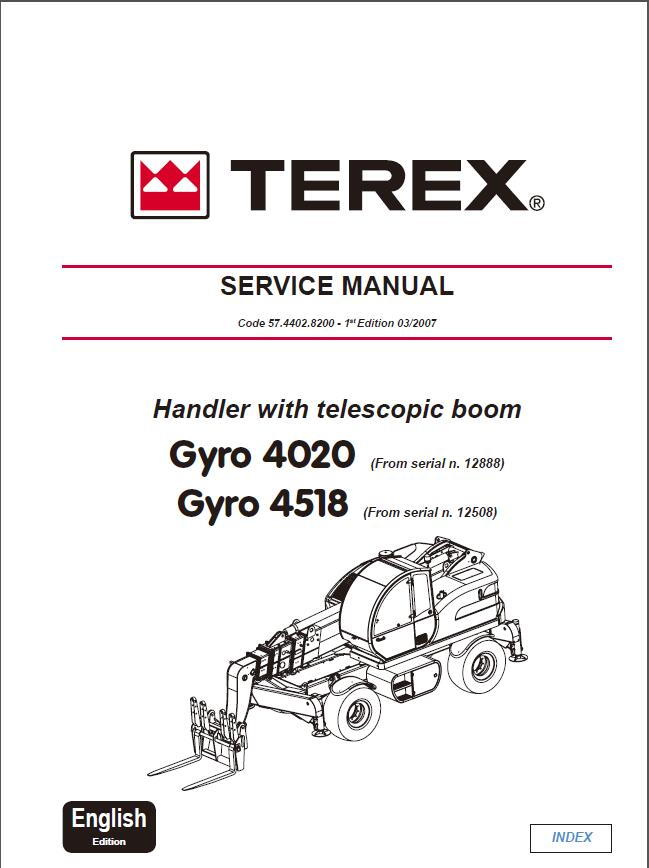 Terex Gyro 4020 Gyro 4518 Telescopic Handler Service Repair Manual