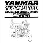 Yanmar Industrial Diesel Engine 2V78 Service Repair Manual