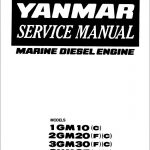 Yanmar Marine Diesel Engine 1GM10, 2GM20, 3GM30, 3HM35 Service Repair Manual