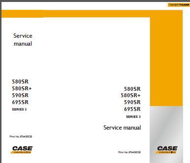 case 580sr 580sr 590sr 695sr series 3 backhoe loader service repair rh sellmanuals com 695 Case Clutch Case 695 Starter