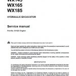 Case WX145, WX165, WX185 Excavators Service Manual