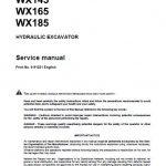 Case WX145, WX165, WX185 Excavators Service Manual