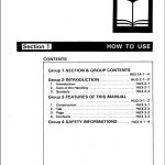 Hitachi EX100, EX100M Excavator Service Manual