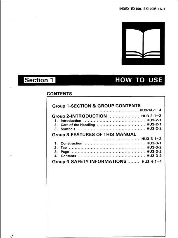 hitachi ex100 ex100m excavator service manual rh sellmanuals com hitachi ex100-2 workshop manual Hitachi EX100 Track Hoe in Hydraulics Systems Diagrams Of
