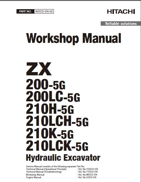 hitachi zx200 5g hydraulic excavator workshop manual rh sellmanuals com Hitachi Troubleshooting Manual Hitachi EX120 Service Manual