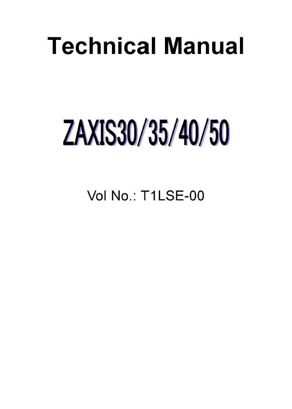 hitachi zaxis 30 35 40 50 excavator technical manual rh sellmanuals com Hitachi Manuals Television Hitachi Excavators