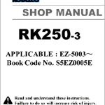 Kobelco Rk250-3 Crane Service Shop Manual