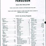 Massey Ferguson TE20 TO20 TO30 Tractor Shop Manual