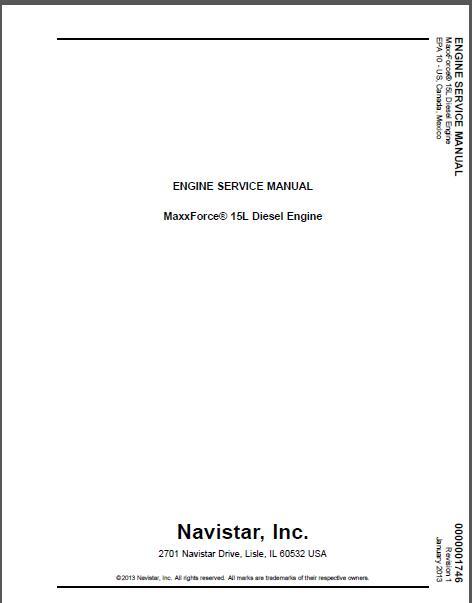 International Navistar MaxxForce 15 Diesel Engine Service Manual