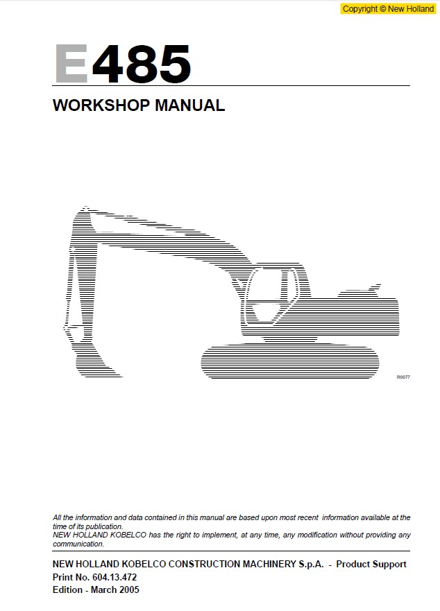 New Holland Ls55 Service Manual on