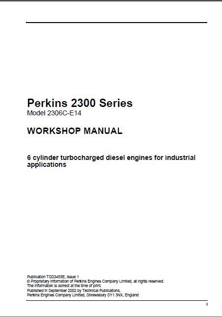 perkins 2300 series model 2306c e14 diesel engines workshop manual rh sellmanuals com perkins 1103a-33t parts manual Professional Workshop Manuals