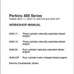 Perkins 400 Series Diesel Engine Workshop Manual