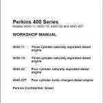 Perkins 400 Series Diesel Engine Workshop Manual