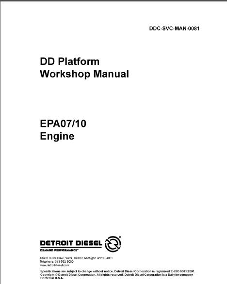 detroit dd15 epa07 engine service repair manual rh sellmanuals com engine service manual dt/9 maxxforce engine service manual fir 2005 dodge neon