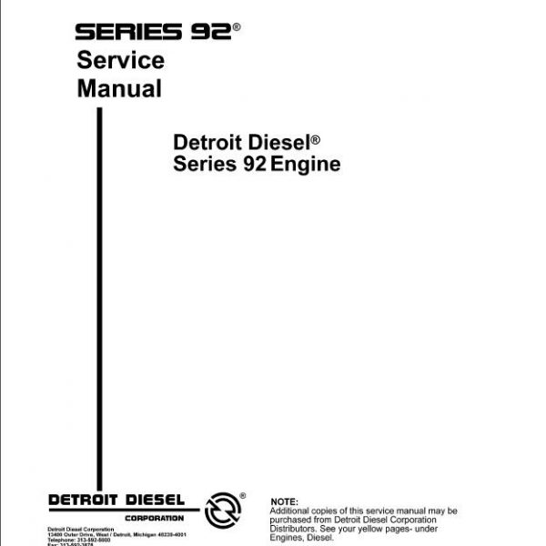 detroit diesel v92 engine service manual pdf rh sellmanuals com mazda 6 diesel service manual diesel engine service manual