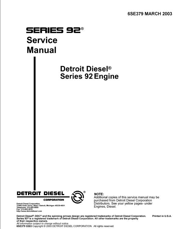 Detroit Diesel 8v92 Service Manual Pdf
