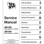 JCB JS130,JS160 Manual