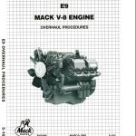 Mack E9 V8 Workshop manual
