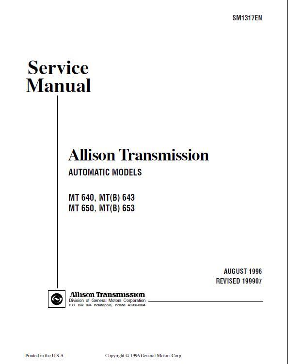 allison at545 service manual