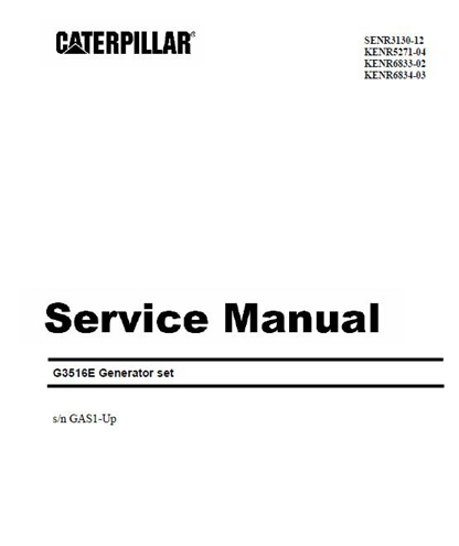 Caterpillar G3516E Service Manual