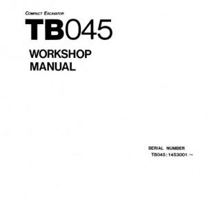 Takeuchi TB045 Workshop Manual