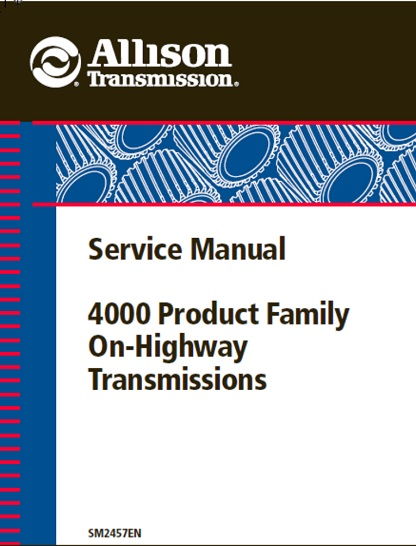 Allison 4000 Product Family Manual