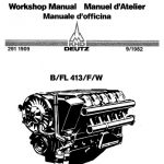 Deutz Engine B Fl413 F W Workshop Manual